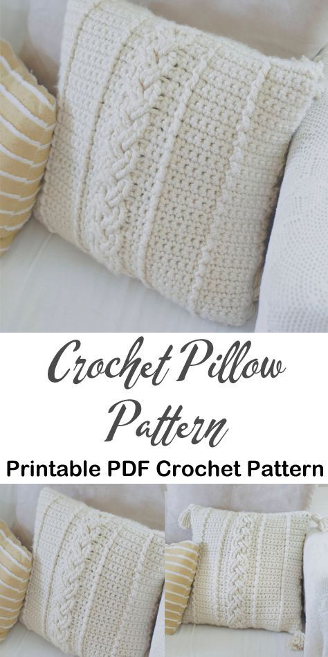 Make a Pillow – A More Crafty Life - Crochet Crochet Pillow Pattern, Crochet Cushions, Afghan Crochet Patterns, Knit Or Crochet, Crochet Stitches, Crochet Pillow Covers, Crochet Throws, Wire Crochet, Crochet Home Decor