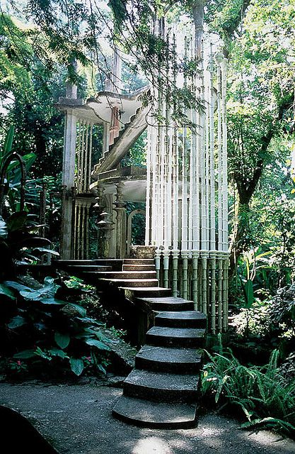 """Las pozas"" near the village of Xilitla in San Luis Potosí, Mexico. Las pozas near the village of Xilitla in San Luis Potosí, Mexico. The Places Youll Go, Places To Go, Magic Places, Beautiful Architecture, Gothic Architecture, Futuristic Architecture, Ancient Architecture, Abandoned Places, Abandoned Houses"