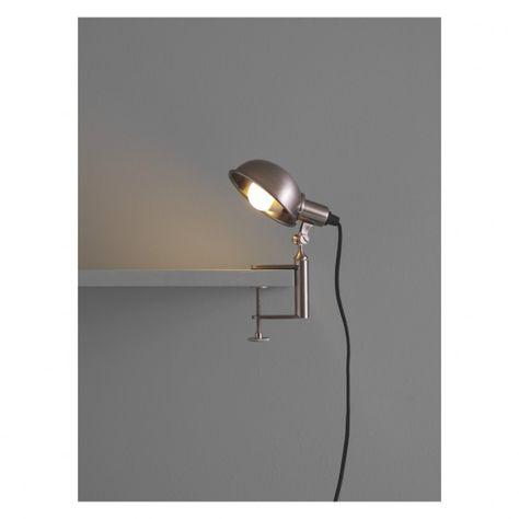 Brand New Habitat Bobby Clamp Lamp Silver