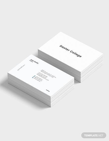 Minimalist Teacher Business Card Template Free Jpg Illustrator Word Apple Pages Psd Publisher Template Net Minimalist Business Cards Business Cards Minimal Business Card Template Design