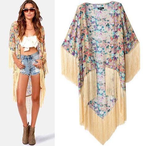 427a31de5 Vintage Retro Women Ethnic Floral Loose Style Kimono Cardigan Jacket Coat  Tops #Unbranded #Cardigan #Casual