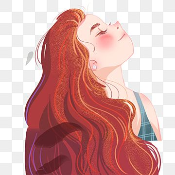 Red Long Hair Girl Illustration Long Hair Character Girl Png Transparent Clipart Image And Psd File For Free Download Girls With Red Hair Long Hair Girl Hair Clipart