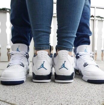 Pin by Nick Monroe on Couples in Jordan 4s   Couple shoes matching ...