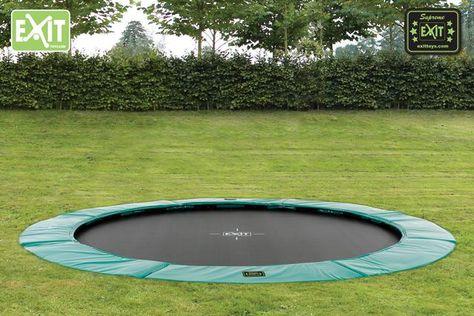 De nieuwste ExitToys trampolines: Exit Supreme. De eerste trampoline de volledig verzonken kan worden gelijk aan uw gazon