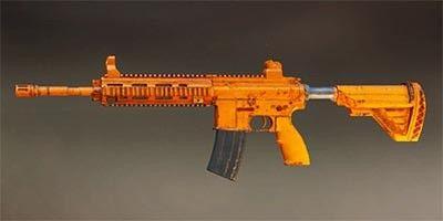 Pubg Mobile M416 Orange Rugged Skin Images Guns Skin