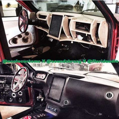 custom fiberglass dash interior door panels console tablet ipad #BecauseSS