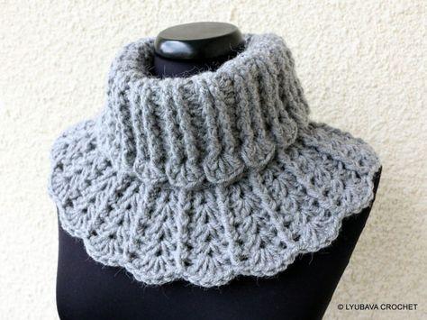 CROCHET NECKWARMER PATTERN - Winter Scarf - Chunky Crochet - Diy Craft - Easy Crochet Pattern-Instant Digital Download - Pdf Pattern No.155