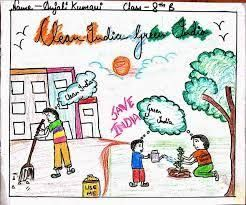 Image Result For Clean India Green India Posters Drawings In English India Poster Poster Drawing Clean India Posters