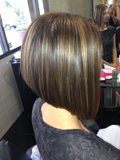 Highlight A Line Bob Haircut Irvine Inverted Bob Hairstyles Hair Styles Bob Hairstyles