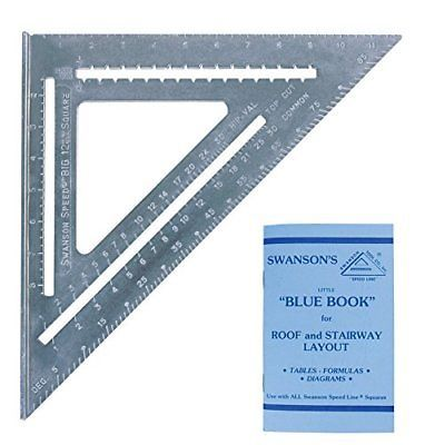 Squares 42253 Swanson T0108 Big 12 Speed Square Layout Tool With Blue Book Buy It Now Only 14 72 On Ebay Speed Square Blue Books Deck Framing