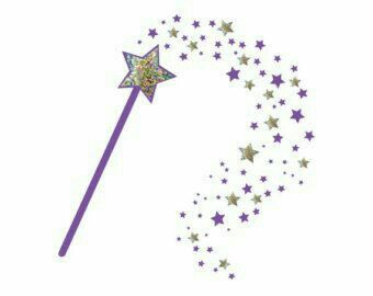 Pin By Monii Paredez On Godparents With Images Fairy Godmother Wand Wand Tattoo Star Wall Decals