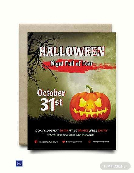Fright Night Halloween Invitation Template Free Jpg Word Apple Pages Psd Publisher Template Net Halloween Invitations Halloween Invitation Template Free Halloween Invitations Halloween invitation templates microsoft word
