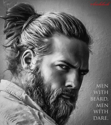 Beard Cheveux Long Homme Chignon Pour Homme Homme Plus Age
