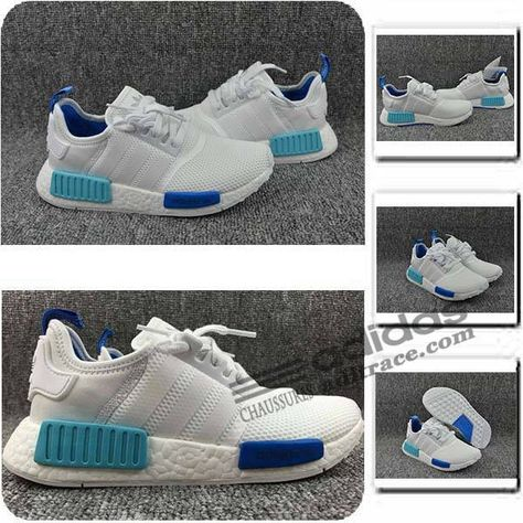 R1 Primeknit GriseBlanche Homme Adidas NMD Chaussure Prix Ygvf7by6
