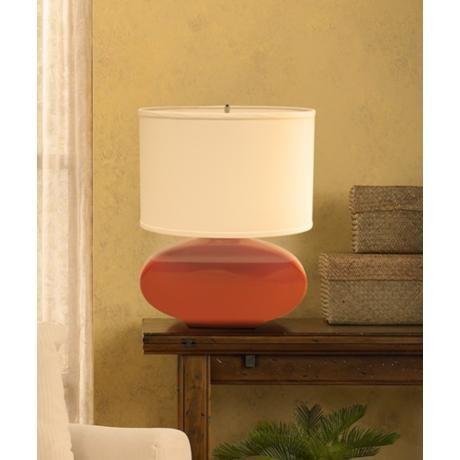 Haeger Potteries Paprika Oval Ceramic Table Lamp Ceramic Table Lamps Lamp Ceramic Lamp Base
