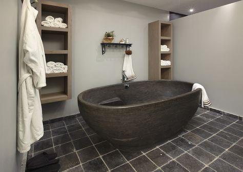 Badkamer Met Natuursteen : Badkamer natuursteen bad ideetjes huisje pinterest