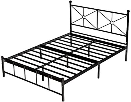 Ppgejgek Twin Queen Size Bed Frames, Heavy Duty Queen Bed Frame With Headboard