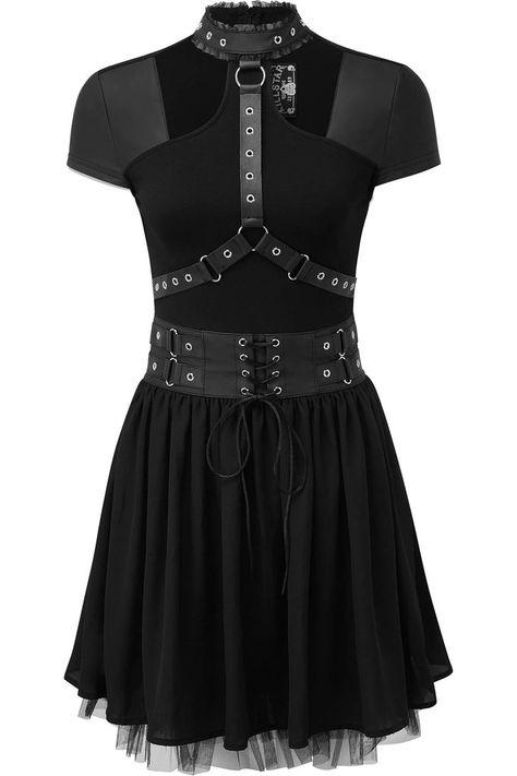 ce9658bf7f Midnight Muse Harness Dress  B
