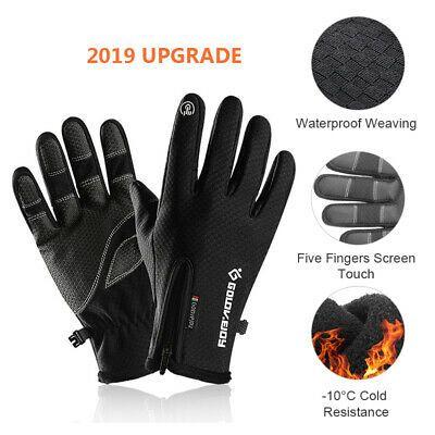 Winter Cycling Ski Outdoor Gloves Touch Screen Waterproof Warm Men// Women Gloves
