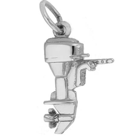 Rembrandt Charms Outboard Motor Charm with Lobster Clasp