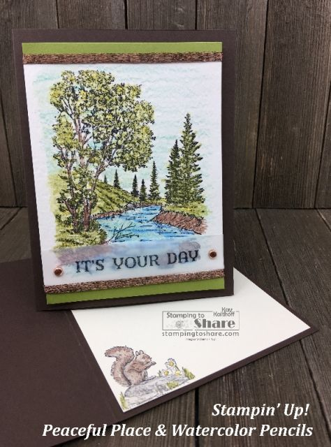 Stampin Up Peaceful Place With Watercolor Pencils Peaceful Places Watercolor Pencils Stampin Up