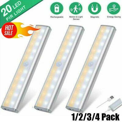 Sponsored Link 20 Led Wireless Rechargeable Cabinet Light Usb Motion Sensor Closet Light 1 4pcs In 2020 Motion Sensor Closet Light Under Cabinet Lighting Wireless Closet Lighting