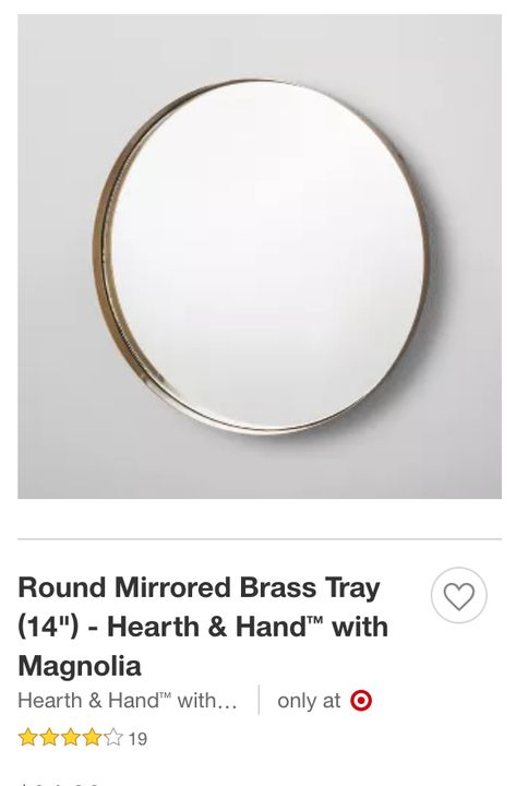 Pin By Hcb On Apartment Target Round Mirror Mirror Tray Brass Tray