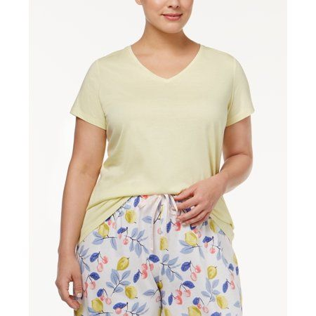HUE Women/'s Sleepshirt T-Shirt V-Neck PJ74215 Aruba Blue M