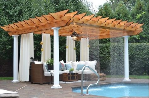 Outdoor curtains and drapes │All Seasons Pools, Spas, and Outdoor Living, Inc. http://www.luxurypools.com/blog/entryid/192/outdoor-room-accessories-pillows-curtains-rugs-wall-decor.aspx