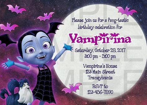 Invitaciones De Vampirina Para Fiestas Infantiles En 2020