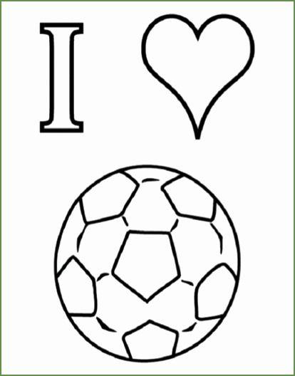 Quatang Gallery- Ik Houd Van Voetbal Kleurplaat Klaarwerk 414528 Kleurplaten Voetbal Tekenen Knutselen Sport