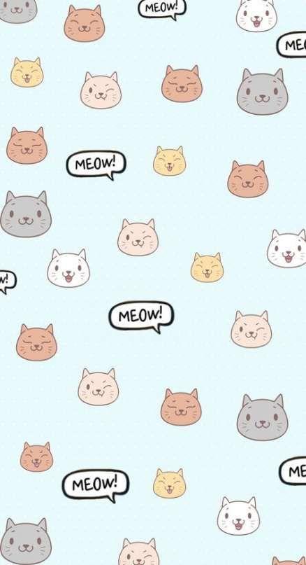 Kawaii Cat Cartoon Iphone Cat Wallpaper In 2020 Cartoon Wallpaper Iphone Cat Phone Wallpaper Cartoon Wallpaper