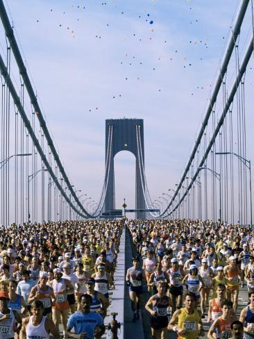 Runners Marathon New York New York State Usa Photographic Print Adam Woolfitt Art Com New York Marathon Marathon Nyc Marathon