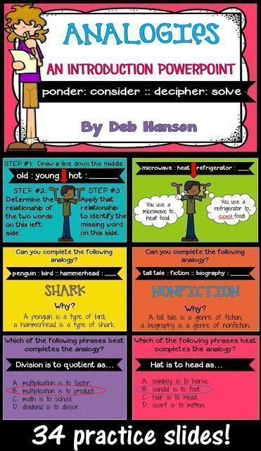 Analogies Powerpoint Analogies Anchor Chart Analogy Anchor Charts