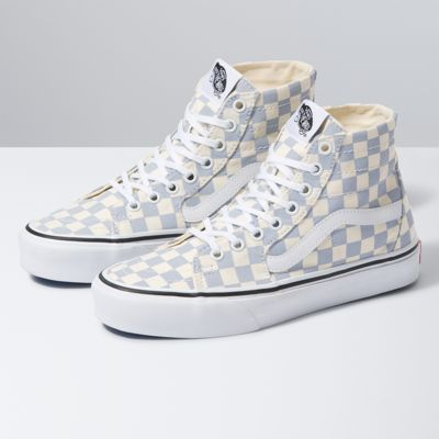 Checkerboard Sk8-Hi Tapered | Shop Classic Shoes At Vans | Vans ...