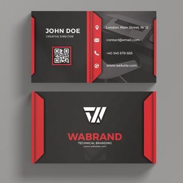 Red And Black Business Card Black Business Card Black Business Business Cards