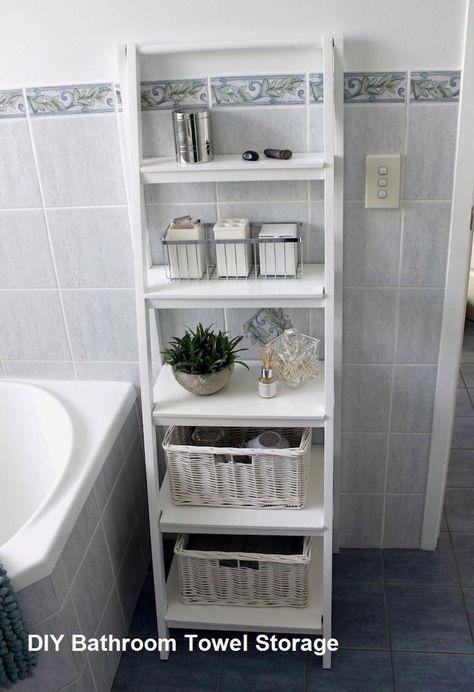 Diy Bathroom Towel Storage Ideas Bathroomdiy Kleine