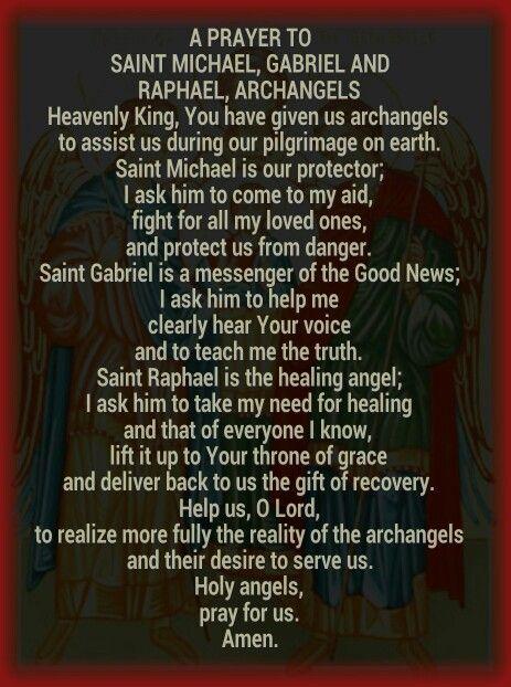 Prayer to the Archangels