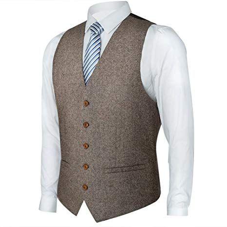 Zicac Mens Unique Advanced Custom Vest Skinny Wedding Dress Waistcoat