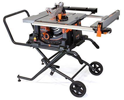 Wen 3720 15a Jobsite Table Saw With Rolling Stand 10 Best