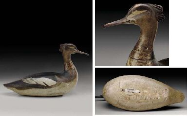 LOTHROP HOLMES (1821-1899) An exceptional and rare Red-Breasted Merganser Hen, mid to late 19th century Price realized: $856,000 Jan 2007,...