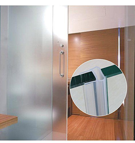 Glass Shower Door Seal Strip 120inch Frameless Weather Stripping Seal Sweep For Door Windows Flexible With Durable Weatherproof Silicone For 3 8 Glass Trust Shower Doors Glass Shower Doors Glass Shower