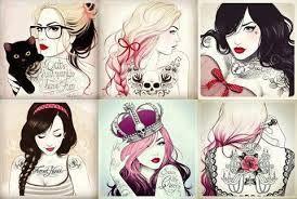 Desenhos De Meninas Coloridos Tumblr Pesquisa Google Ideias