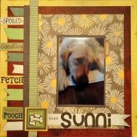 Gallery Projects - scrapbook layouts - Scrapbooking - Dog - Two Peas in a Bucket