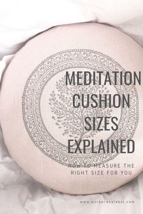meditation cushions sizes explained #meditation