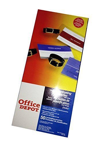 Office Depot ID Card\/Luggage Tag Hot Laminating Pouches Slotted - office depot