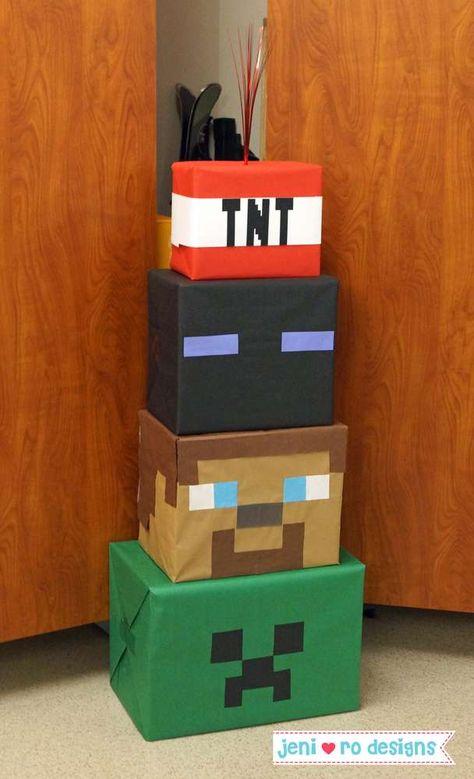 Minecraft Birthday Party Ideas | Photo 6 of 20 | Catch My Party Minecraft Party Decorations, Minecraft Crafts, Birthday Party Decorations, Minecraft Party Ideas, Minecraft Party Invitations, Birthday Party Games, 6th Birthday Parties, 8th Birthday, Mine Craft Birthday