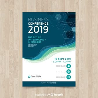 Download Flat Abstract Business Conference Flyer Template For Free