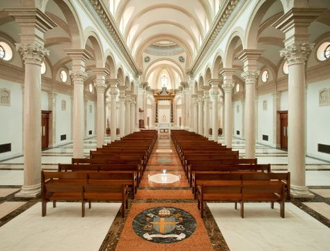 Interior of Our Lady of the Most Holy Trinity Chapel at Thomas Aquinas College!