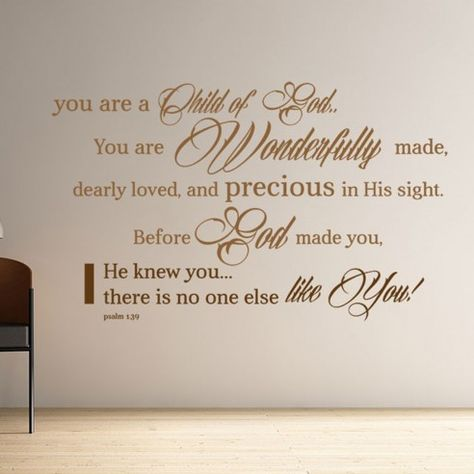 Children's room Christian Decal | Child of God…no one else like you!